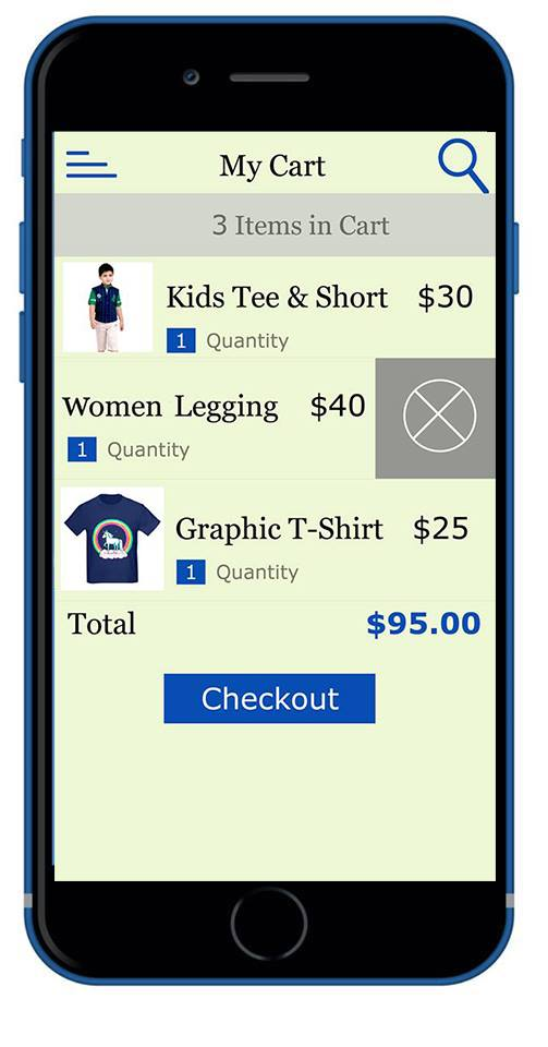AFS App Cart Page
