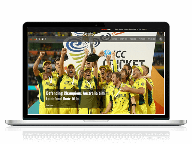 View Cric - Sports Website